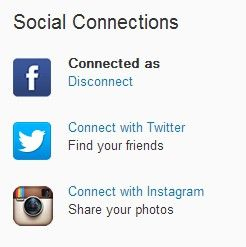 """Choose """"Connect with Instagram"""""""