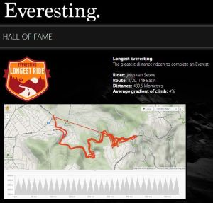 "Like climbing hills on a bike? You might want to start ""Everesting""."