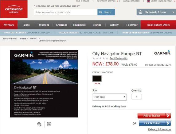 Garmin City Navigator best price