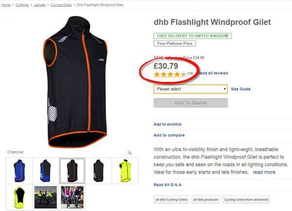 dhb flashlight gilet