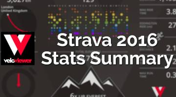 It's Strava stats 2016 annual summary time!