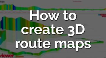 How to create 3d route maps of your Strava rides.