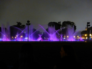 the dancing fountain