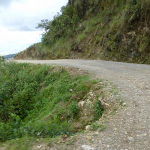 twisty mountain track