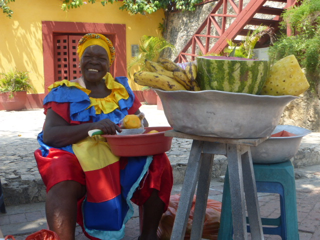 Afro Colombian fruit seller