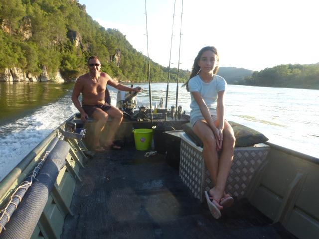 fishing boat on the River Ebro
