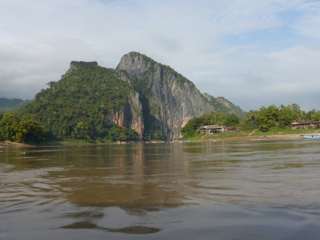cruising on the slow boat from Thailand to Laos