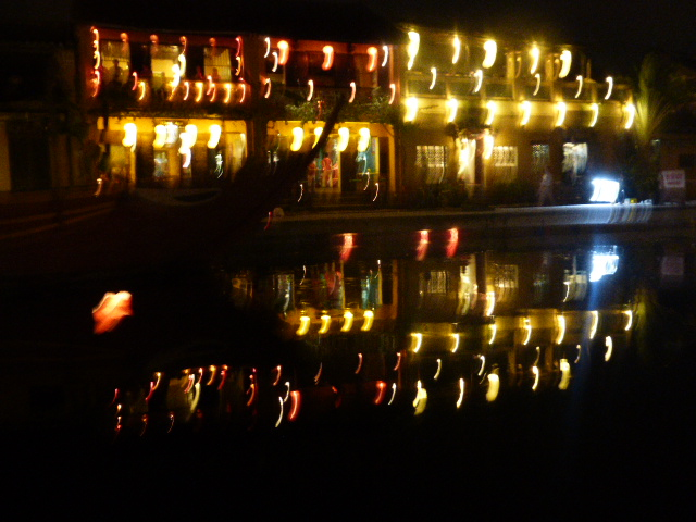 Hoi An reflections in the canal at night