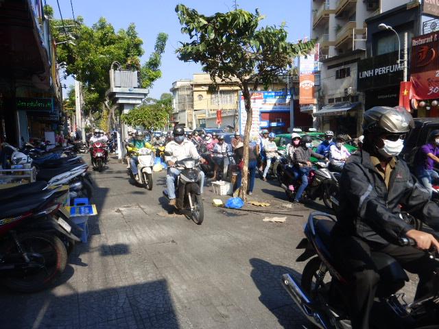 Ho Chi Mnh city chaotic roads
