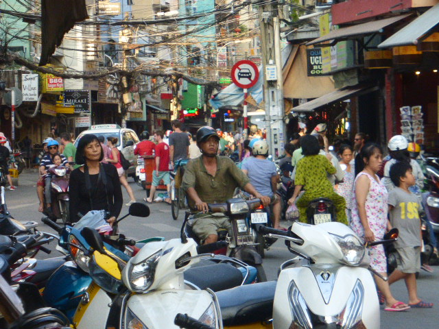 Ho Chi Minh City - a typical street scene
