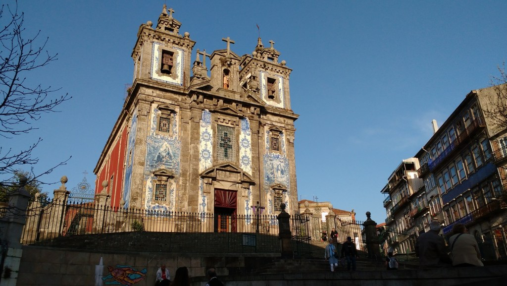 the tiled churchs are a highlight of Porto