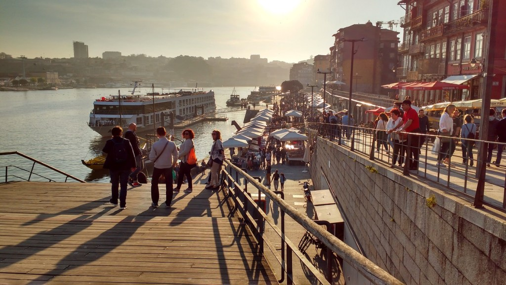 the busy riverside - a highlight of Porto