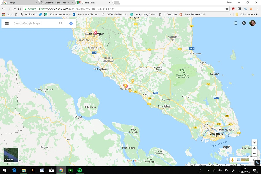 Muar food: Where is Muar on the map?