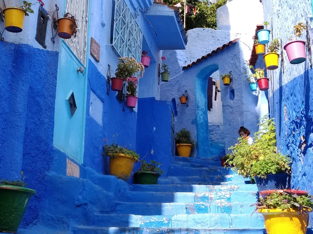 Chefchaouen really is very blue