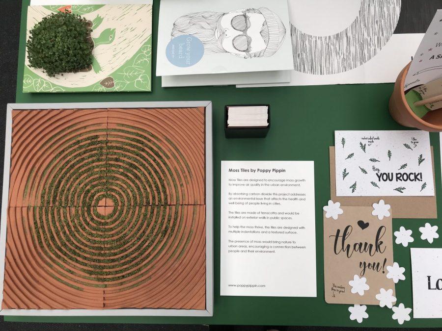 Moss tiles, art design and architecture, graduate
