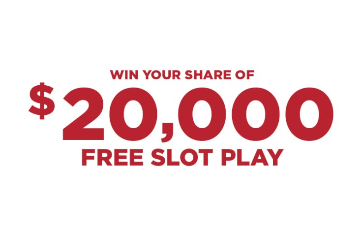 win your share of $20,000 free slot play promotion