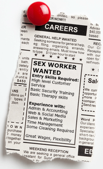 An Employment ad for Sex workers would probably look similar to this, if there was an Interview process.