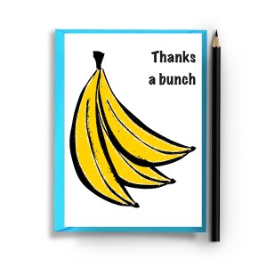 Banana thank you card