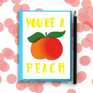 Scarlett and Valentine Peach Card