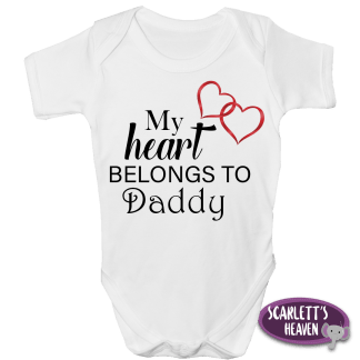 Baby Grow - My Heart Daddy Short Sleeve