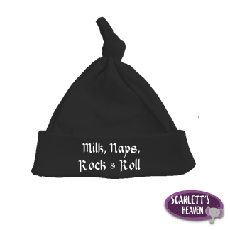 Beanie - TopKnot - Black - Milk Naps Rock n Roll