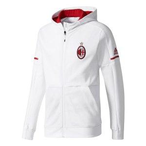 adidas - Milan Felpa con Cappuccio Bianca Anthem Squad Ufficiale 2017-18
