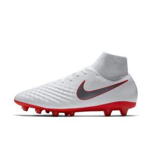 Scarpa da calcio per erba artificiale Nike Magista Obra II Academy Dynamic Fit AG-PRO - Bianco