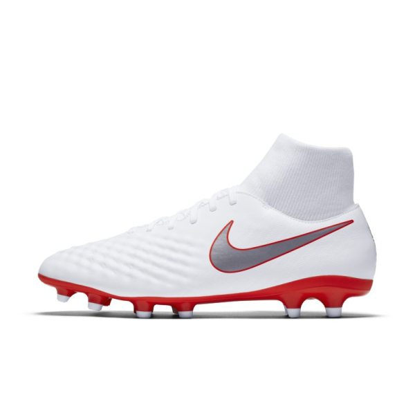 Scarpa da calcio per terreni duri Nike Magista Obra II Academy Dynamic Fit Just Do It - Bianco