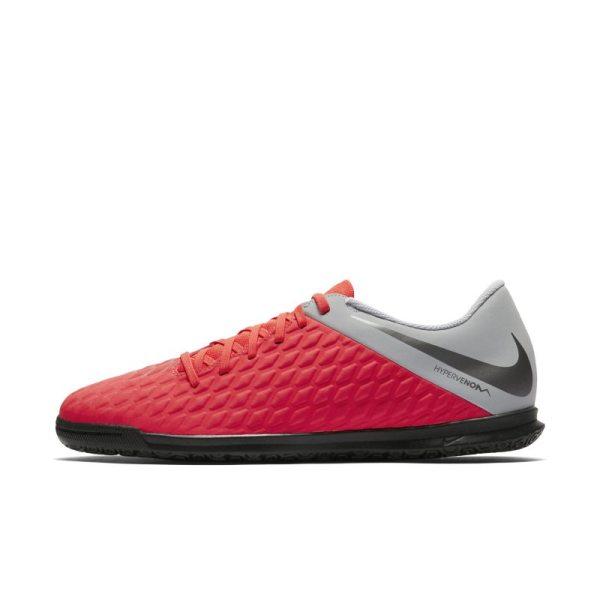 Scarpa da calcio per campi indoor Nike HypervenomX Phantom III Club IC - Red