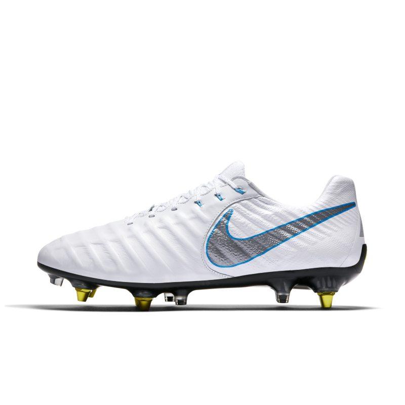 Scarpa da calcio per terreni morbidi Nike Tiempo Legend VII Elite SG-PRO Anti-Clog Traction - Bianco