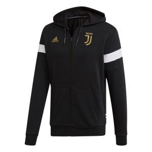 adidas - Juventus Felpa Hoodie Ufficiale Nera / Oro 2018-19