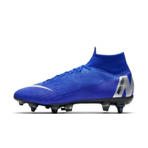Scarpa da calcio per terreni morbidi Nike Mercurial Superfly 360 Elite SG-PRO Anti-Clog - Blu