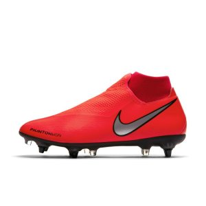 Scarpa da calcio per terreni morbidi Nike PhantomVSN Academy Dynamic Fit SG-Pro Anti-Clog Traction - Red