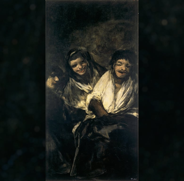 Men Mocked by Two Women