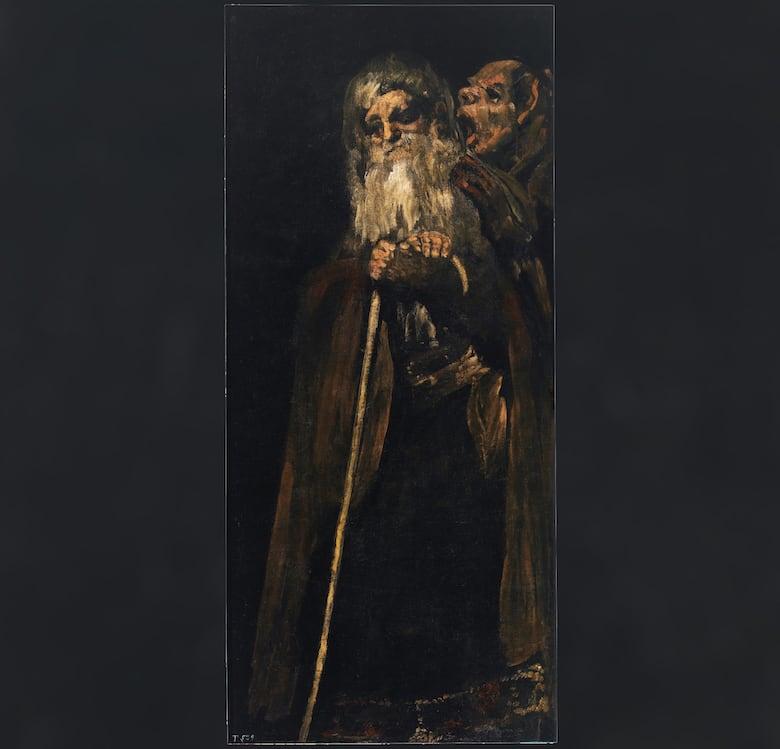 goya black paintings, two old men