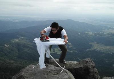 Extreme ironing