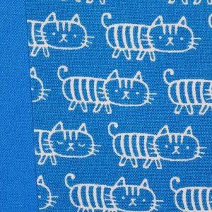 Fotoalbum königsblau mit weißen Kätzchen