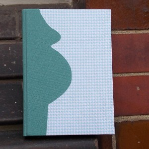 Grün Blaues Schwangerschaftstagebuch Blanko