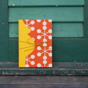 Schwangerschaftstagebuch Gelb Orange Retro