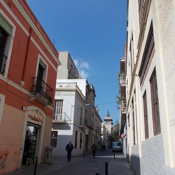 Straßengewirr in Gracià Barcelona