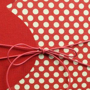 Gepunktetes Schwangerschaftstagebuch in Rot und Creme
