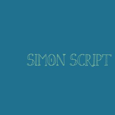Schrifttyp-Simon-Script