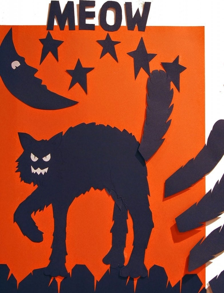 17+ Halloween Party Games for Kids (pin the tail on the cat)