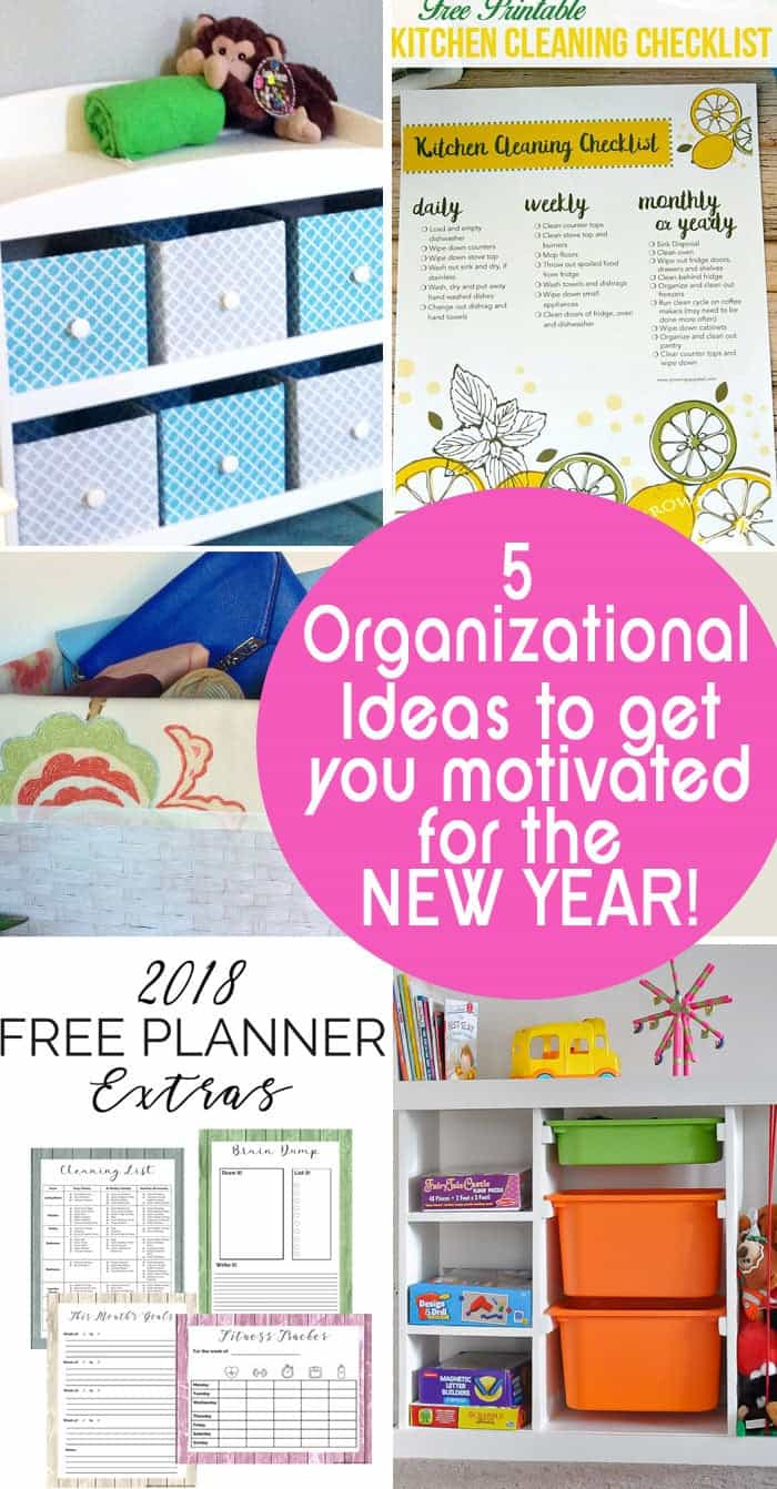 5 Organizational Ideas to get you motivated for the new year!