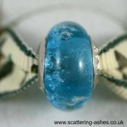 Pandora Style Memorial Charm Bead: Aqua
