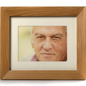 Oak picture frame, a discreet urn that will hold a small amount of your loved one's ashes