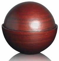 Floating Ball Urn - Walnut