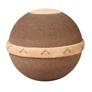 plant ashes in the ground - urn