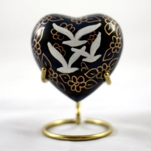 Dove Keepsake Heart Urn