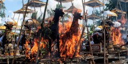 Balinese cremation ceremong